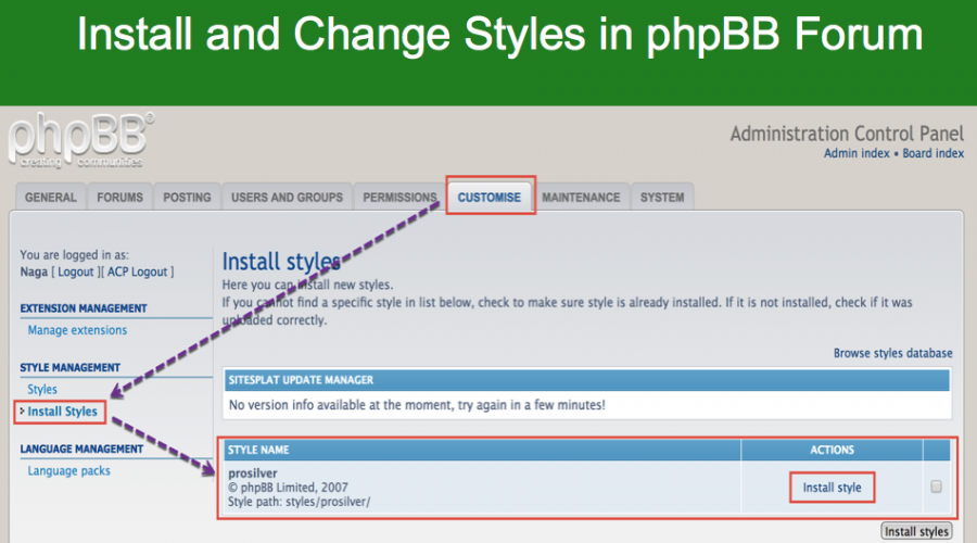 How to Install Styles in phpBB Forum?