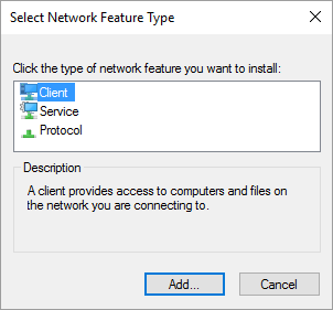 Installing Network Features