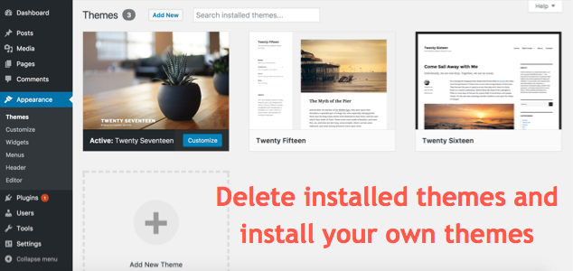 Installing WordPress Themes