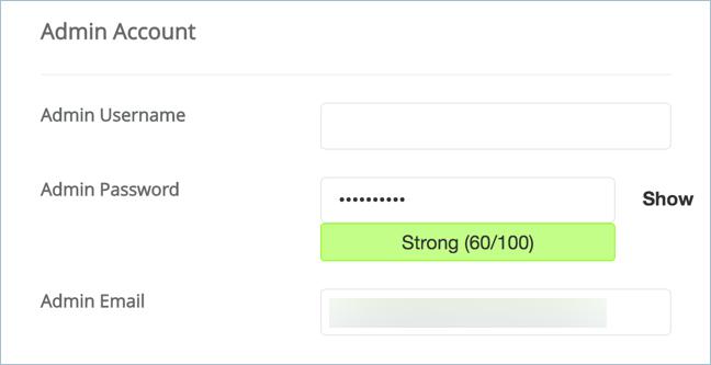 Setup Admin Account