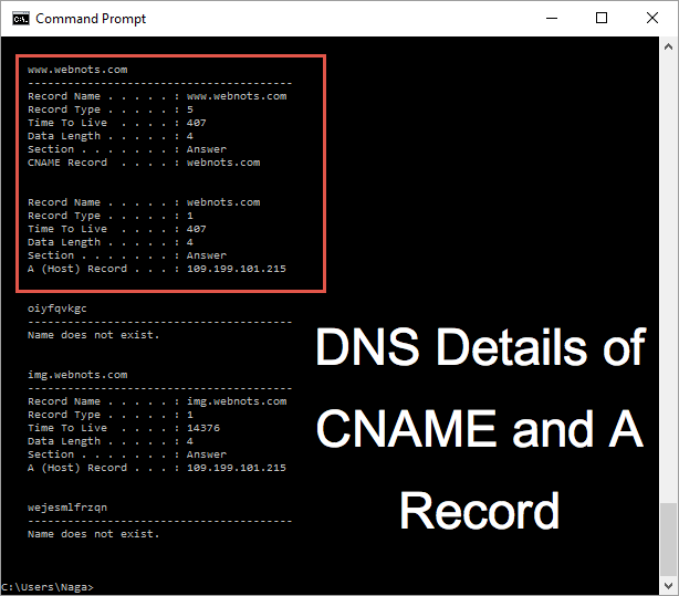 Testing DNS Cache