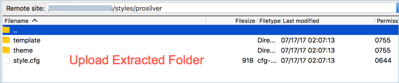 Upload Extracted Folder in Styles Directory