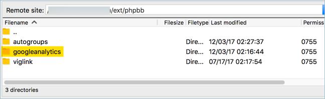 Upload Google Analytics Extension in phpBB Forum