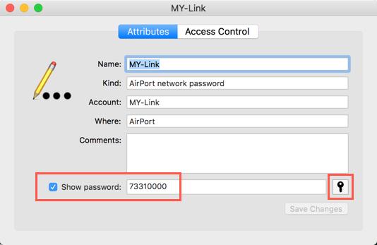 View Wi-Fi Password in Mac