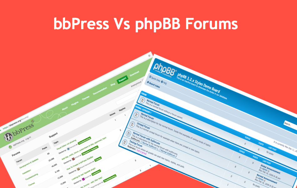 Comparison of bbPress Vs phpBB Forums