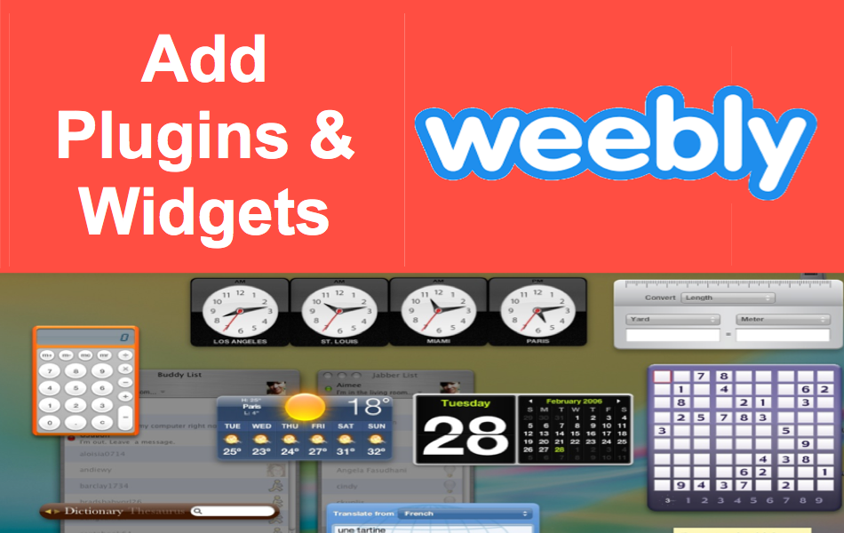 Add Plugins and Widgets in Weebly