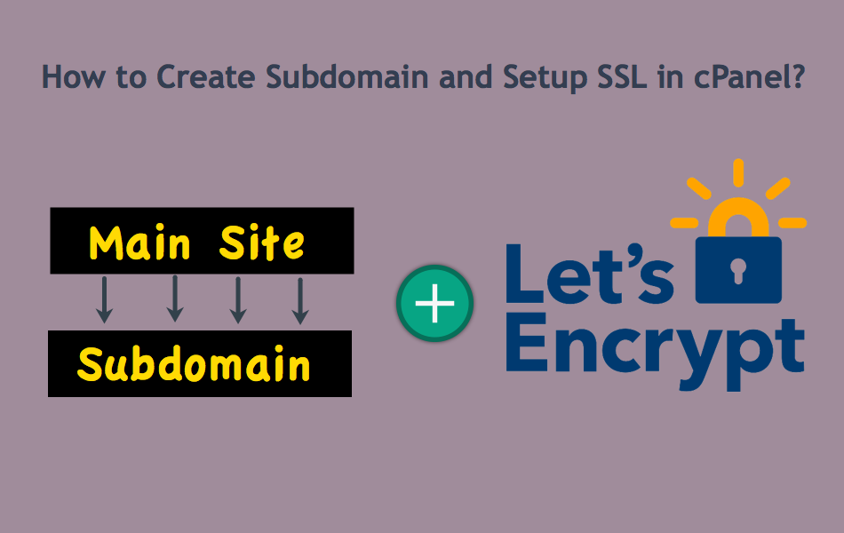How to Create Subdomain and Setup SSL in cPanel?