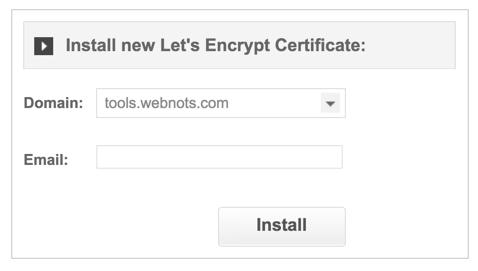 Installing SSL on Subdomain