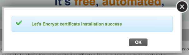SSL Installation Successful
