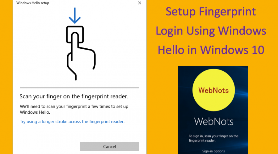 How to Setup Fingerprint Login Using Windows Hello in Windows 10?