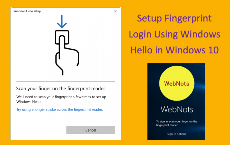 How to Setup Fingerprint Login Using Windows Hello in Windows 10?