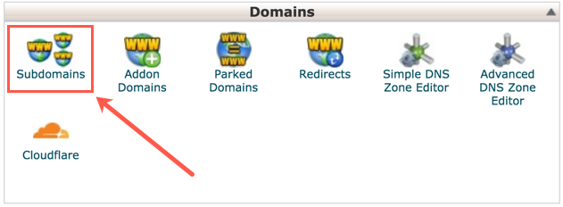 Subdomains in cPanel