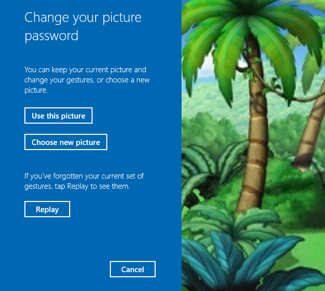 View or Change Picture Password