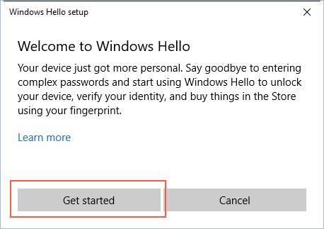 Windows Hello First Screen