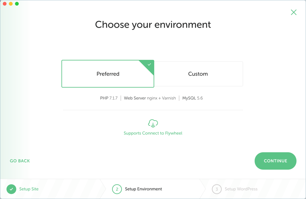 Choose Environment for Installation