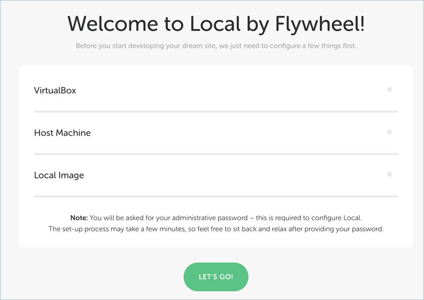 Local by Flywheel App Installation