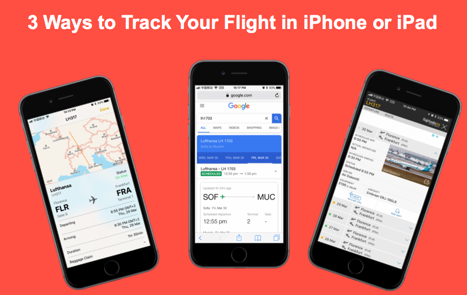 3 Ways to Quickly Track Your Flight in iPhone or iPad
