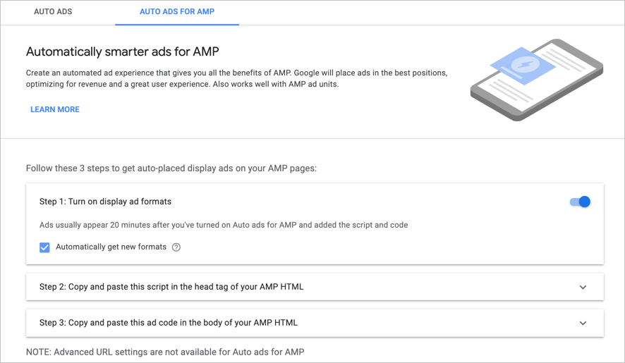 Auto Ads for AMP