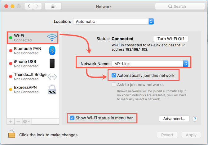 Automatically Join Wi-Fi Network in MAc