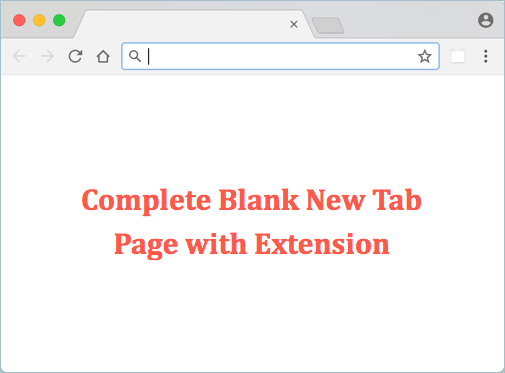 Chrome Blank New Tab Page Using Extension