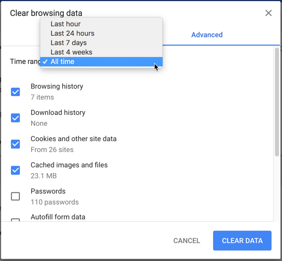 restore download history chrome