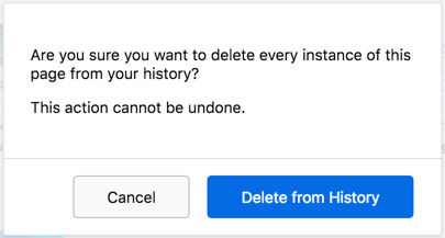 Confirm Delete Single History in Firefox