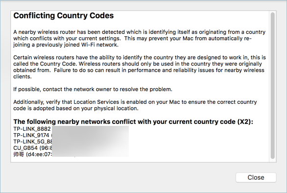 how to change router country code