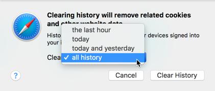Delete History in Safari Mac