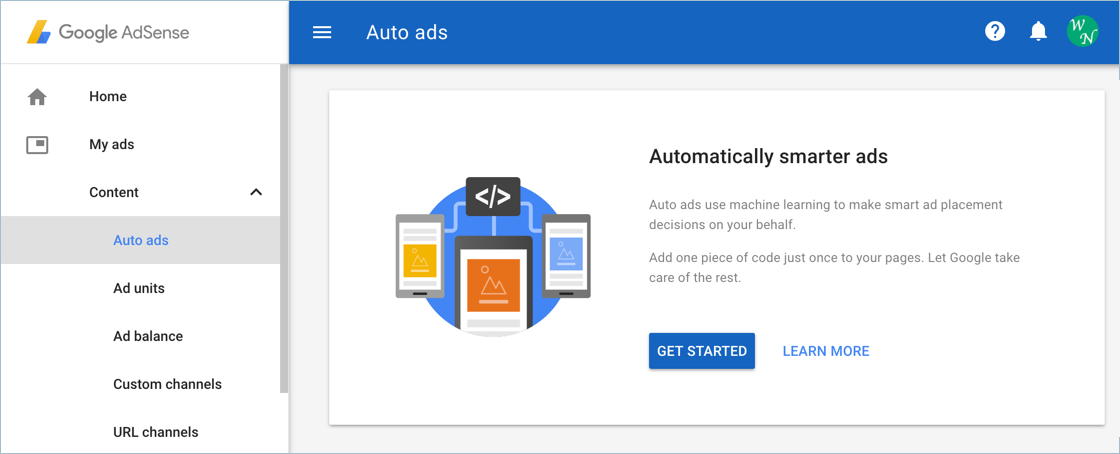 Enabling Auto Ads in Google AdSense