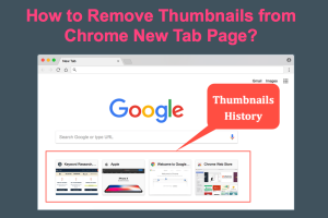 How to Remove Thumbnails from Chrome New Tab Page?