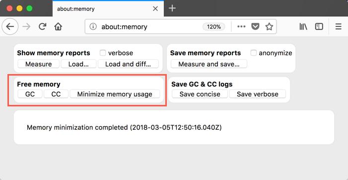 Minimize Firefox Memory Usage