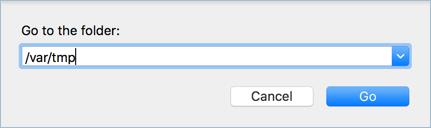 Откройте папку TMP на Mac