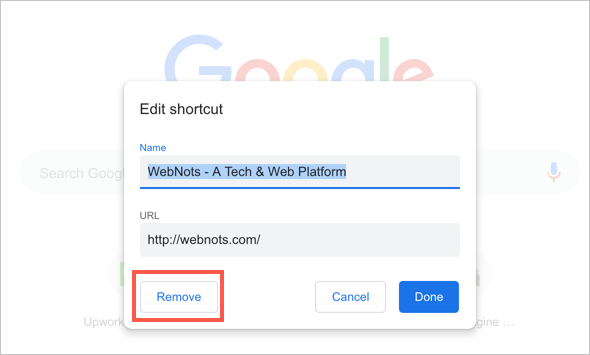 Remove Shortcuts from Chrome New Tab Page