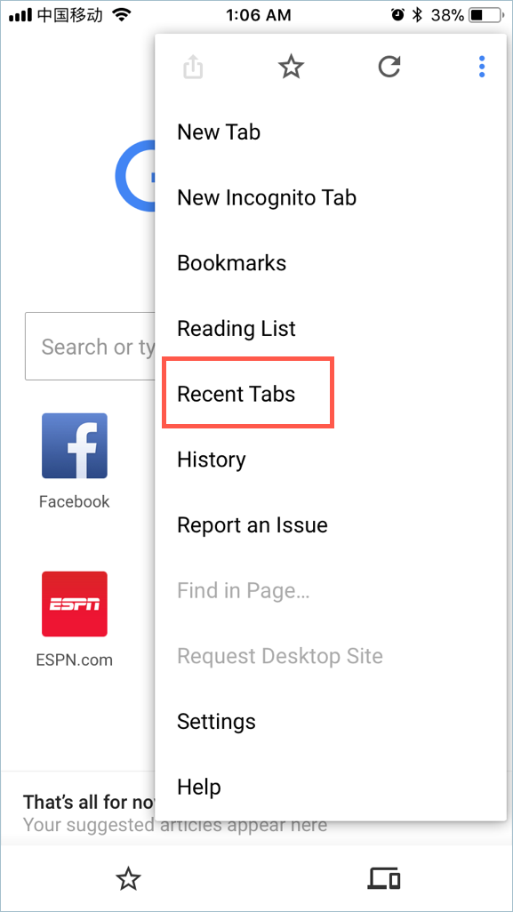 Reopen Closed Tabs in Chrome Mobile