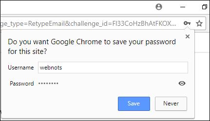 Сохранить пароль в Chrome