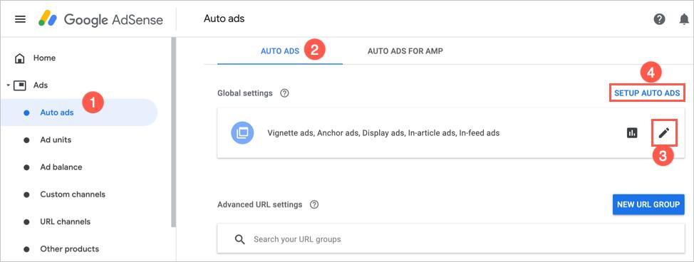 Setup AdSense Auto Ads