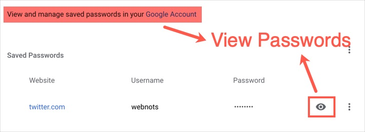 View Chrome Passwords