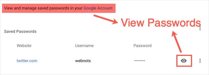 Просмотр паролей Chrome