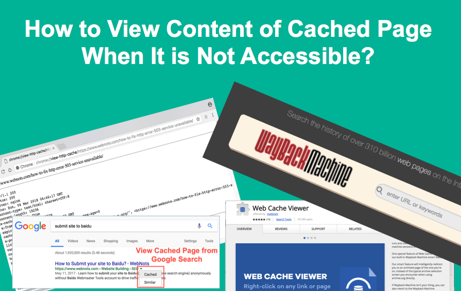 View Content of Cached Page