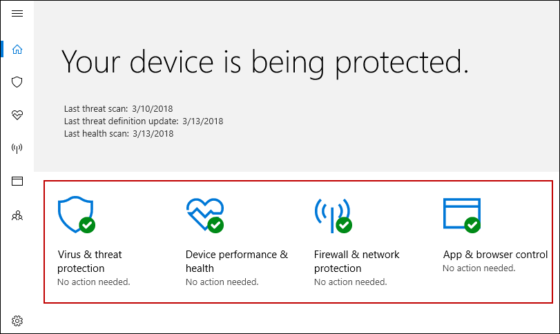 Windows Defender Status
