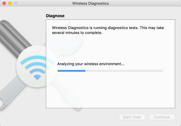 Wireless Diagnostics in Mac