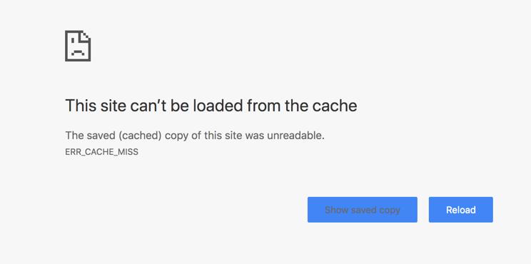 Chrome Err_Cache_Miss Error