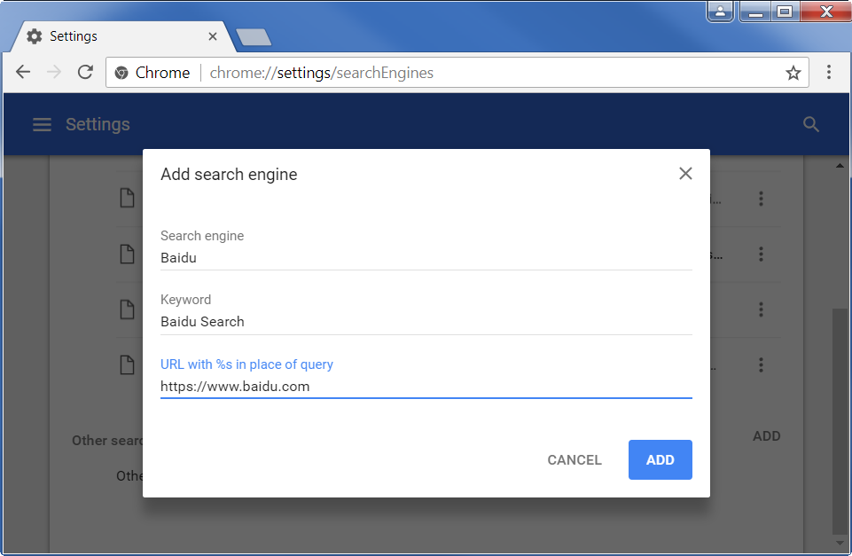 how to make google default search engine in address bar