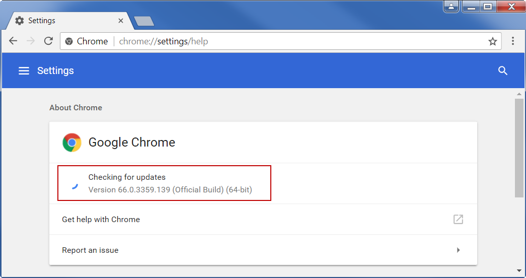 Check Chrome Version Using Help Command