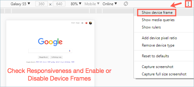 Check Responsiveness and Enable Frame Mode