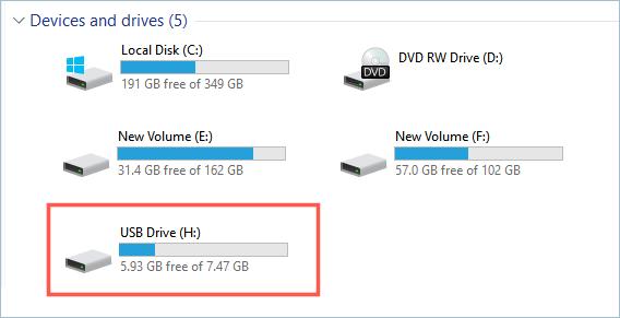 Check USB Drive in Windows
