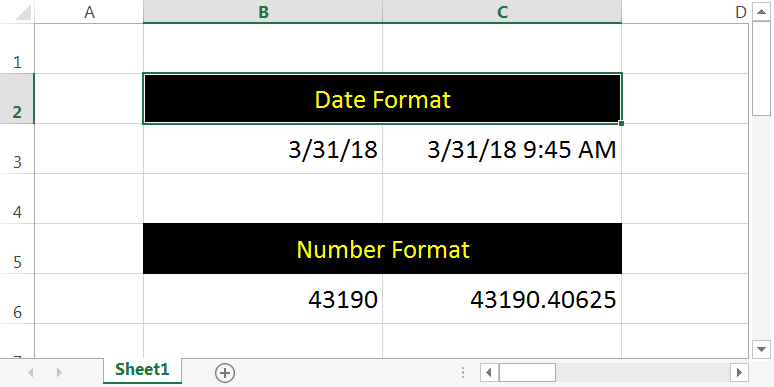 Converting Date to Numbers