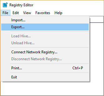 Export Registry Entries