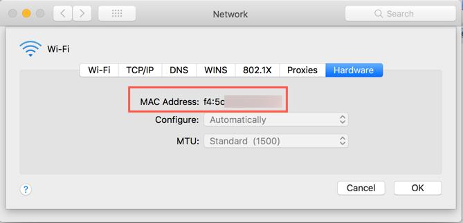 Find MAC Address in Mac