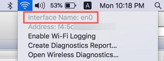 Finding Interface Name in Wi-Fi Mac